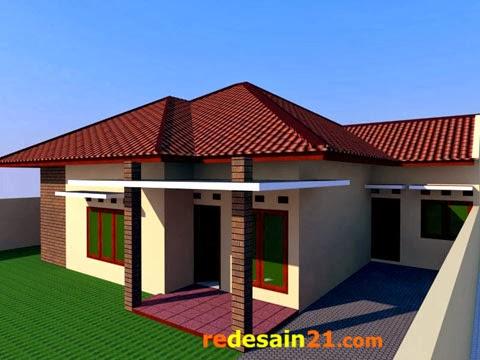 desain rumah besar bangunan 150 m2 - sudut kanan rd2