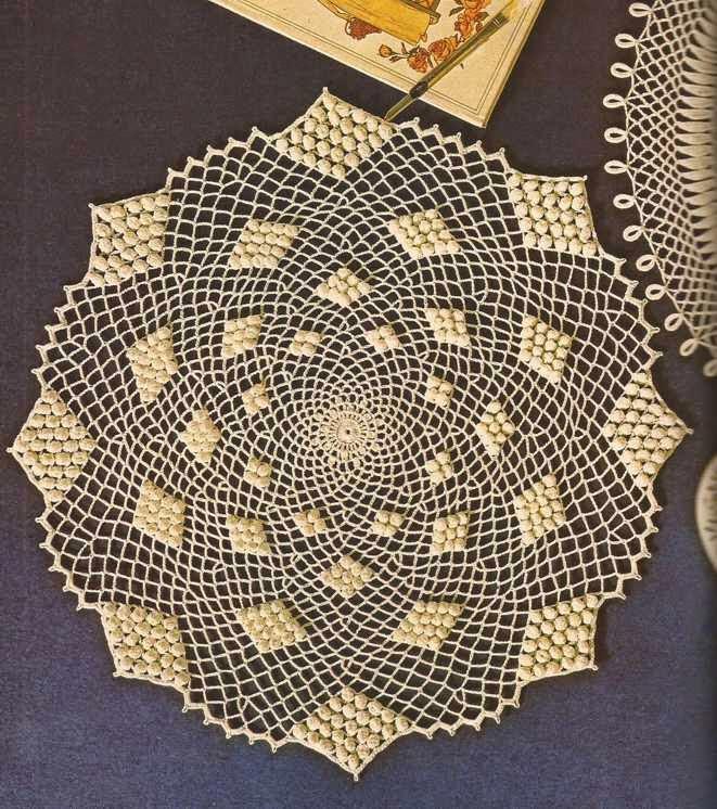 500 centro de mesa con bodoques a crochet patrones de for Centro de mesa a crochet