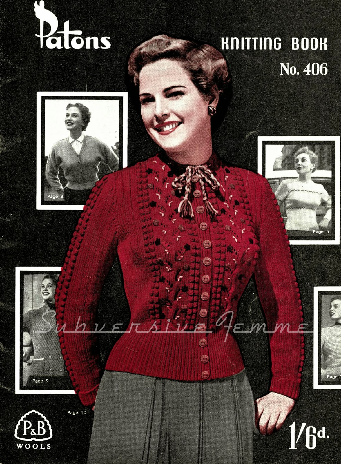 free vintage knitting patterns 1950s cardigan patons 406