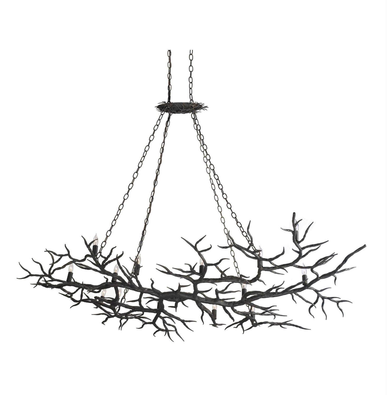 Rustic Handmade Light Fixture Twig Chandelier Branch: Linenandlavender.net: Lighting