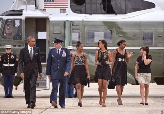 president obama michelle malia and sasha stylish in