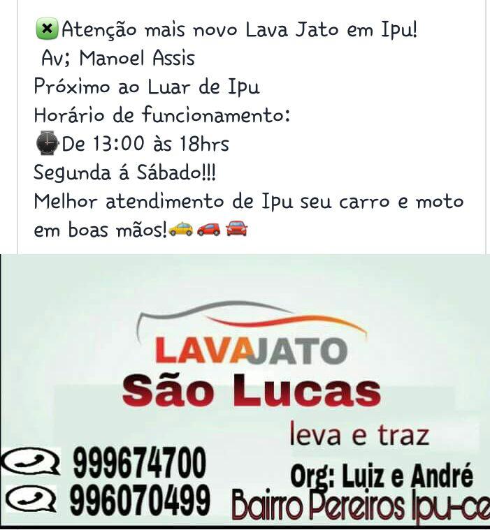 LAVA JATO SÃO LUCAS