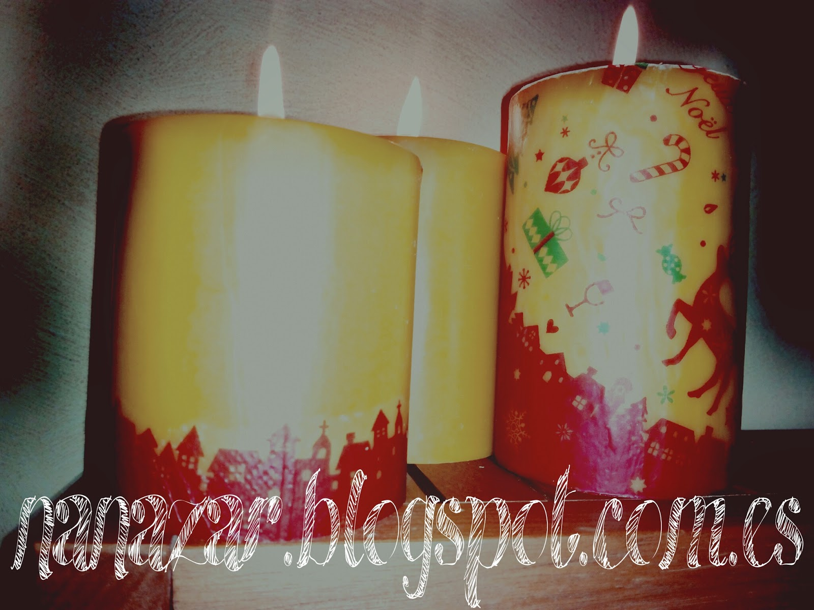 Nanazar decorar velas con servilletas for Decorar jarrones con velas