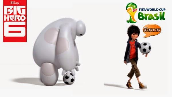 Big Hero 6 en el mundial de Futbol de Brasil