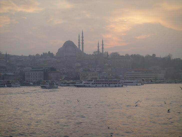 Puesta de sol en Estambul