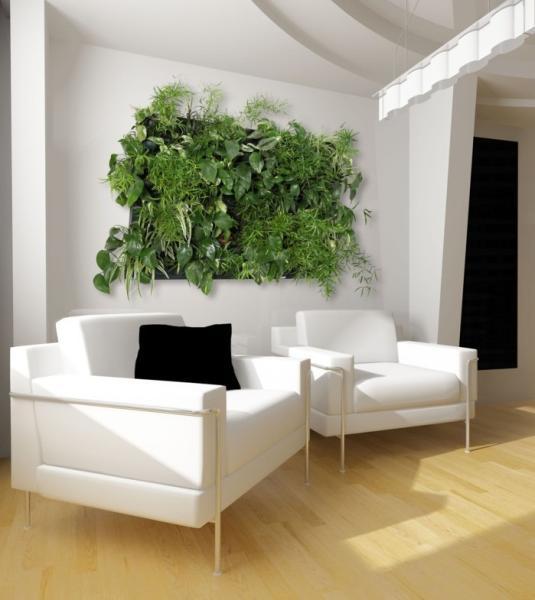 decoraci n de interiores decora con jardines verticales. Black Bedroom Furniture Sets. Home Design Ideas