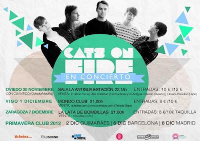 Cats on Fire Gira España 2012 Noviembre.Diciembre