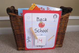 Back to school book Basket