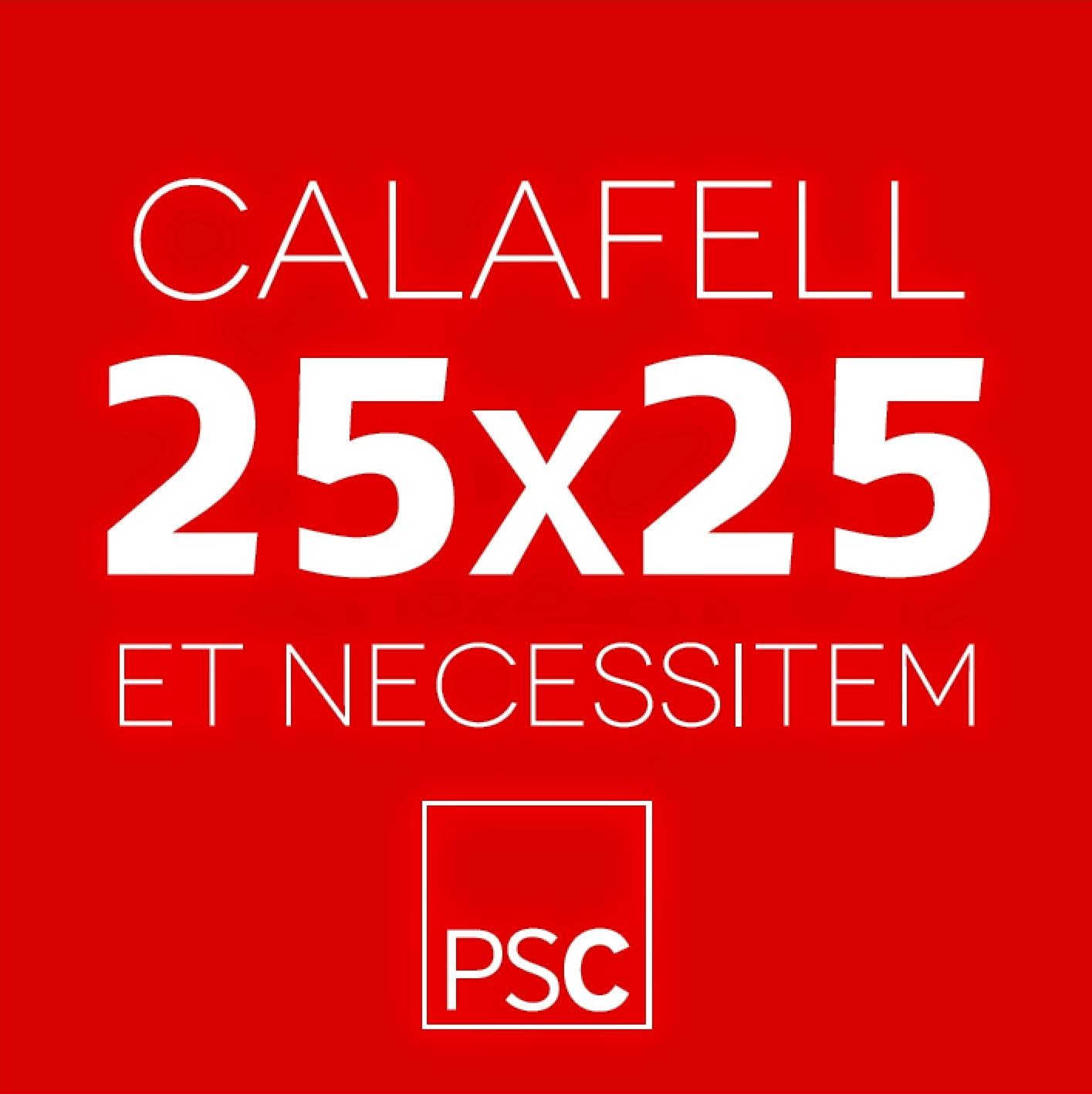 CALAFELL25x25, EL NOSTRE FULL DE RUTA