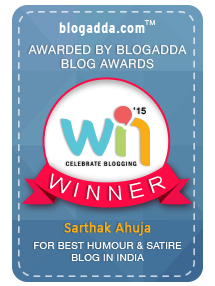 Blogadda Award 2015 Winner