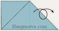 Bước 4: Lật ngược mặt đằng sau tờ giấy ra đằng trước.