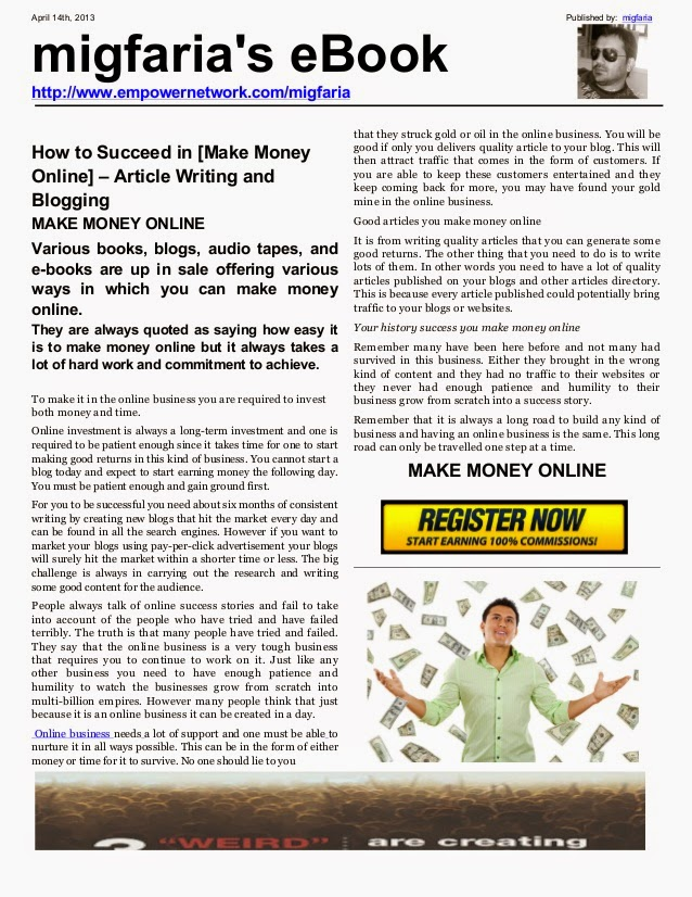 Article Writing for Money - Where to Sell Articles Online | Guide to Law Online