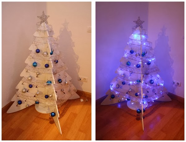 Como hacer arbol de navidad reciclado con carton