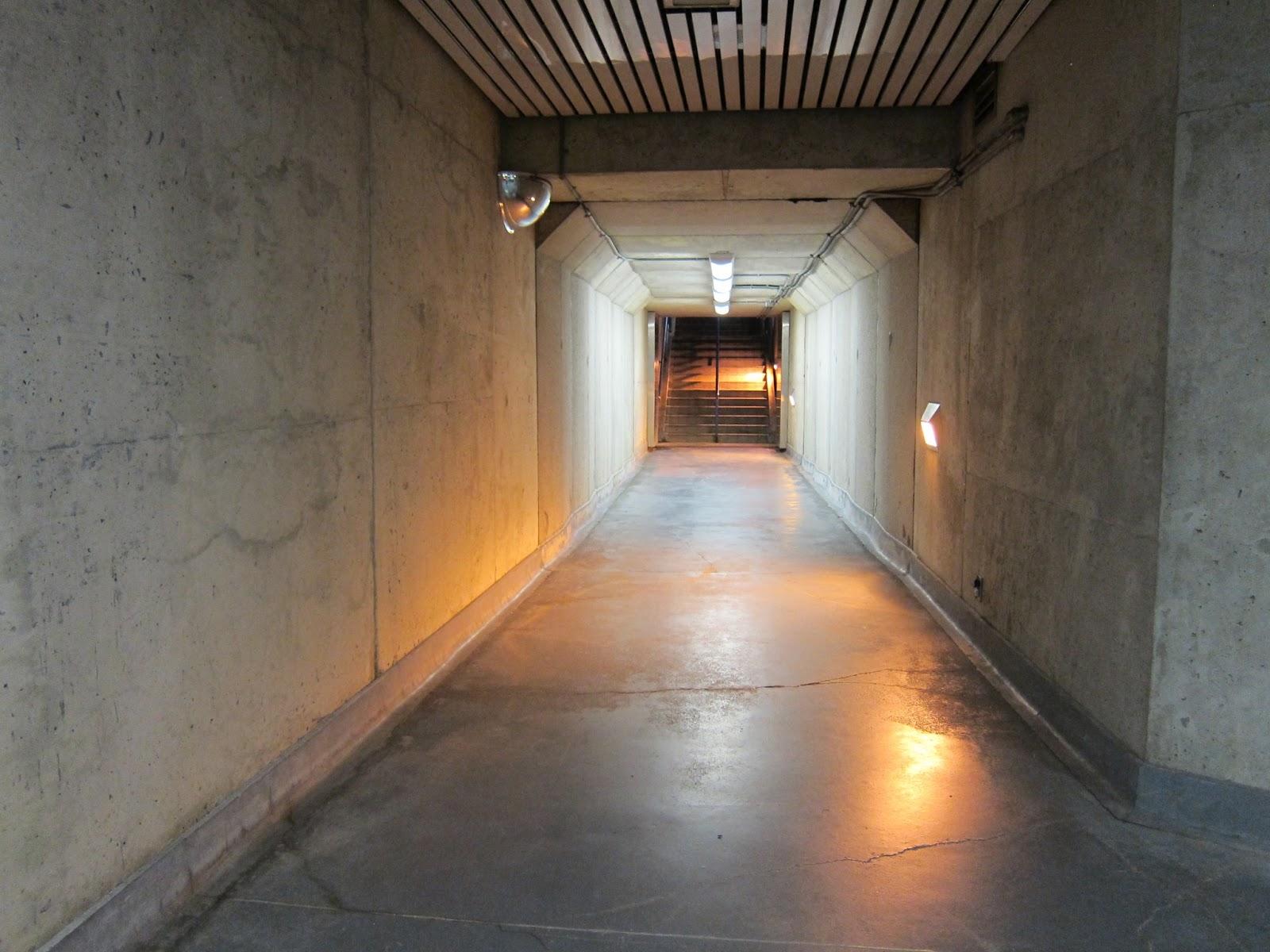 Ellesmere station entrance corridor