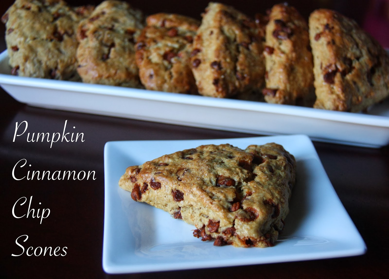 Pumpkin Cinnamon Chip Scones