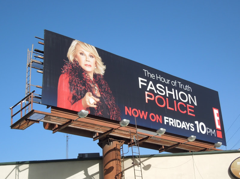 Fashion Police Joan Rivers billboard