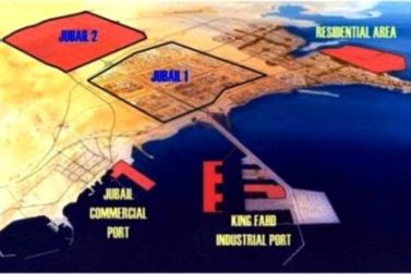 Jubail industrial City is biggest industrial area in Saudi Arabia and Gulf. there are 32 big plant installed.