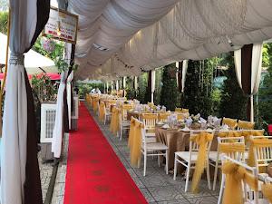Rạp cưới đẹp màu nâu 70 bàn