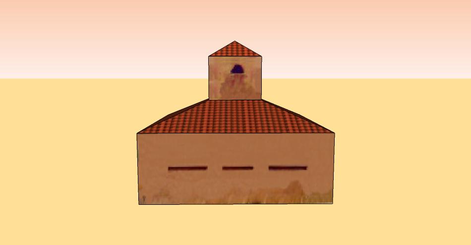 Maqueta de papel de fortín colonial