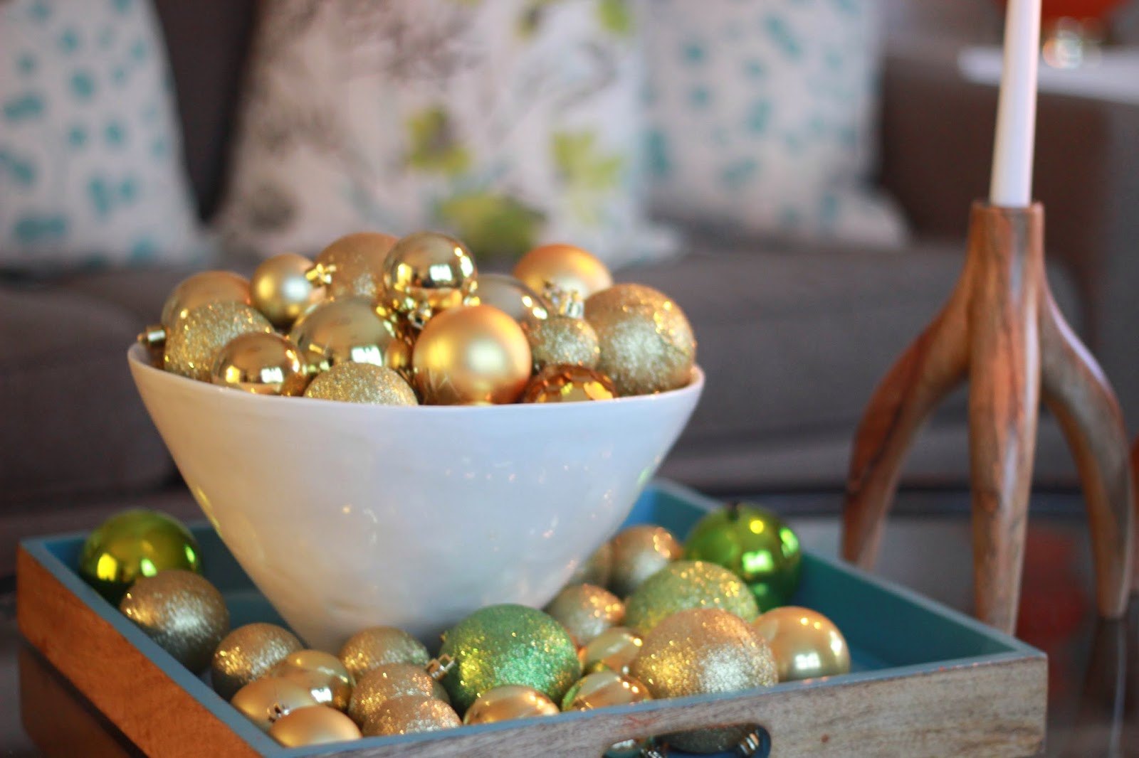 Decking Our Halls in Chartreuse and Gold