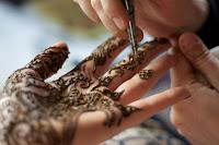 Hennafestés tenyérre