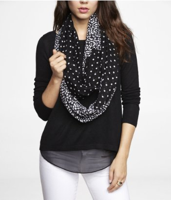express dot and spot infinity scarf
