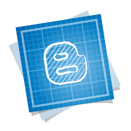 Blue Blogger Stacked Logo
