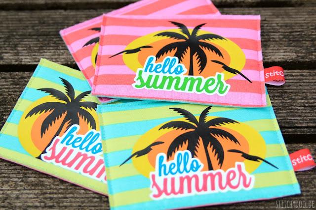 stitchdoo: Stoffkartentausch | Sommerstreifen: Karibik-Feeling bei Tag und Nacht {geplottet}