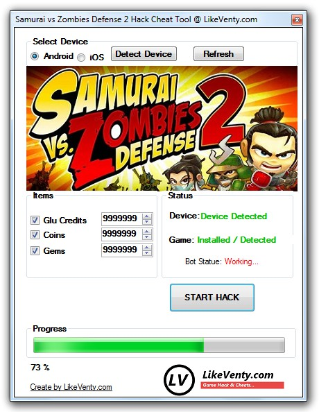 Samurai vsZombies Defense 2 Hack Cheat Tool Details: