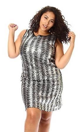 plus size sequin dress: plus size silver sequin dress