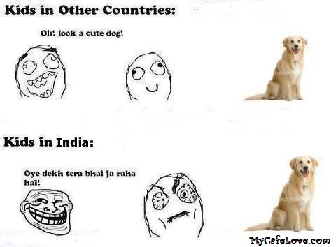 Kids in other countries vs Kids in India ~ funny image