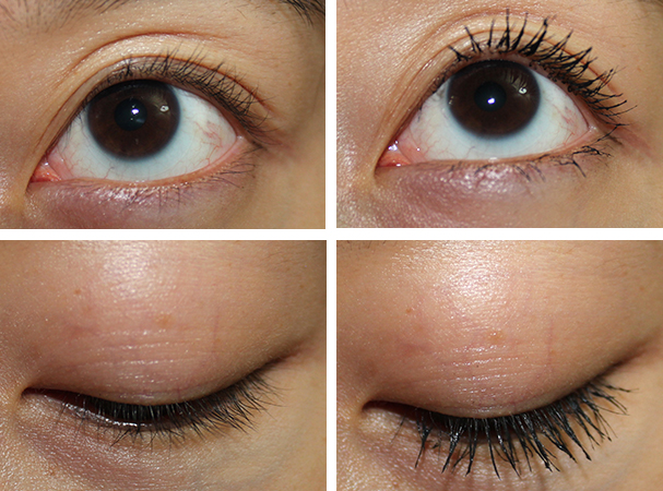 Left: No Mascara, Right: One Coat of Mascara