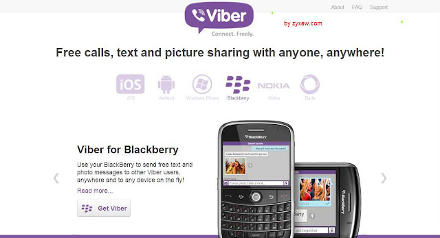 Viber VoIP free voice calls for Blackberry