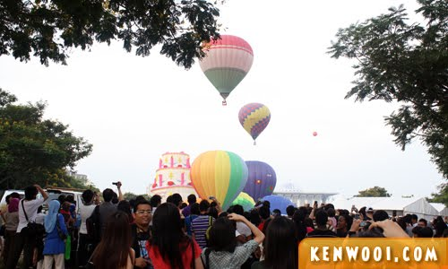 putrajaya hot air balloon view