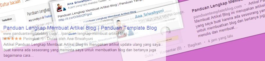 Deskripsi Penelusuran Artikel Blog
