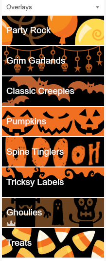 Free Halloween Garlands from PicMonkey @ Blissful Roots