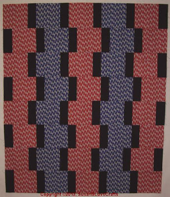SusanB's Up &amp; Down quilt top
