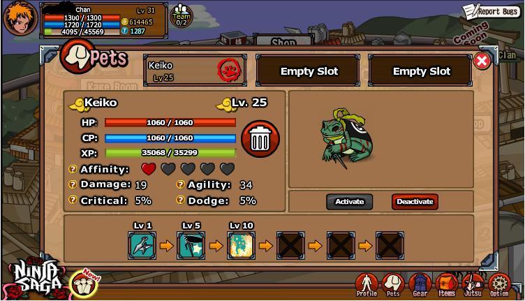 Cheat Ninja Saga Token and Maple Tickets 7 Desember 2011