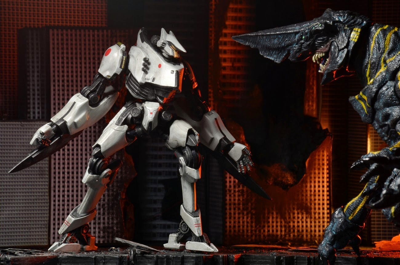 NECA - Pacific Rim - Jeager Series 4 - Gypsy Danger and Tacit Ronin figures