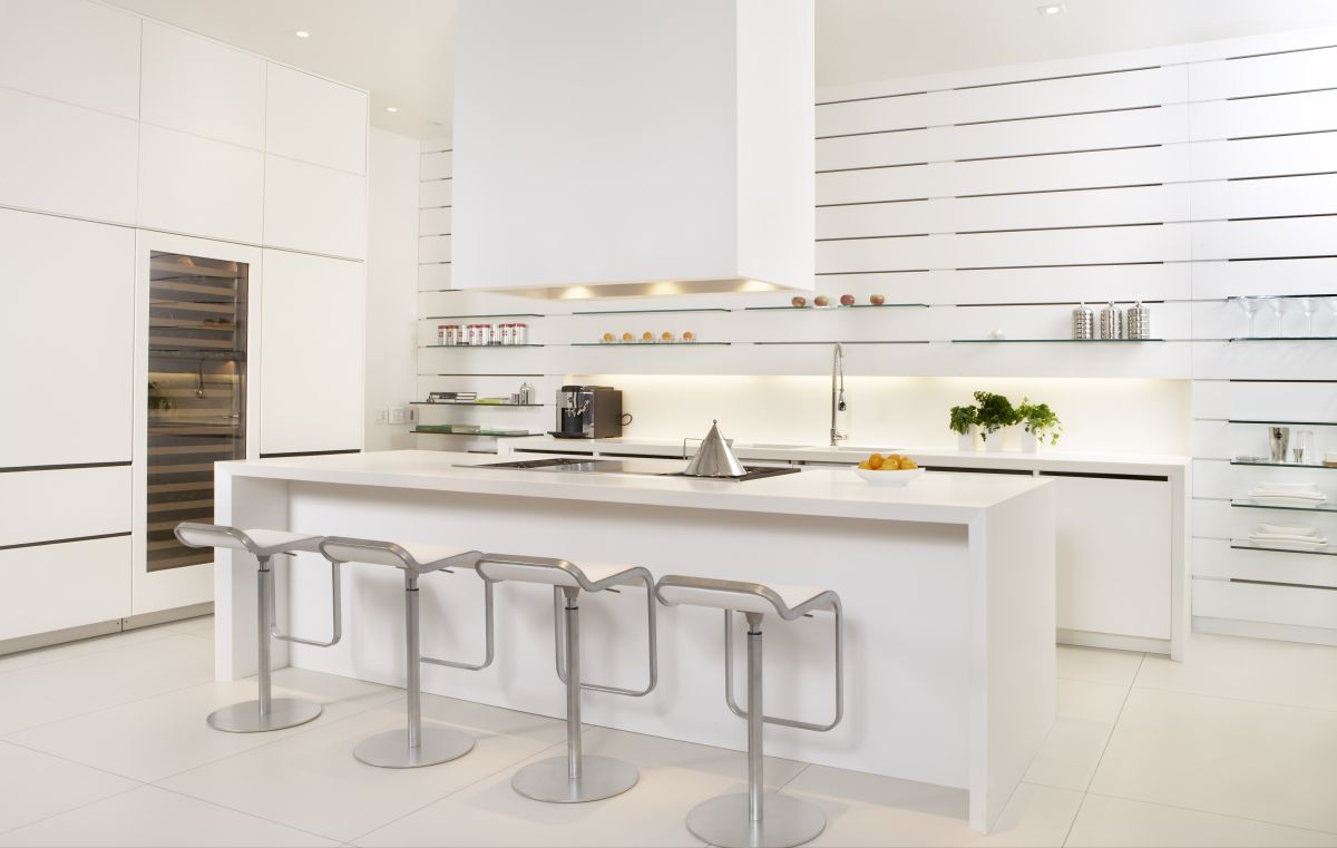 Kitchen design ideas modern white kitchen why not for Modern kitchen layout