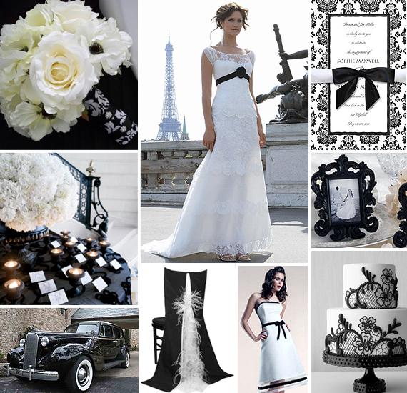 black white wedding ideas: TLCWeddingGuide: Valentine's Theme Wedding?