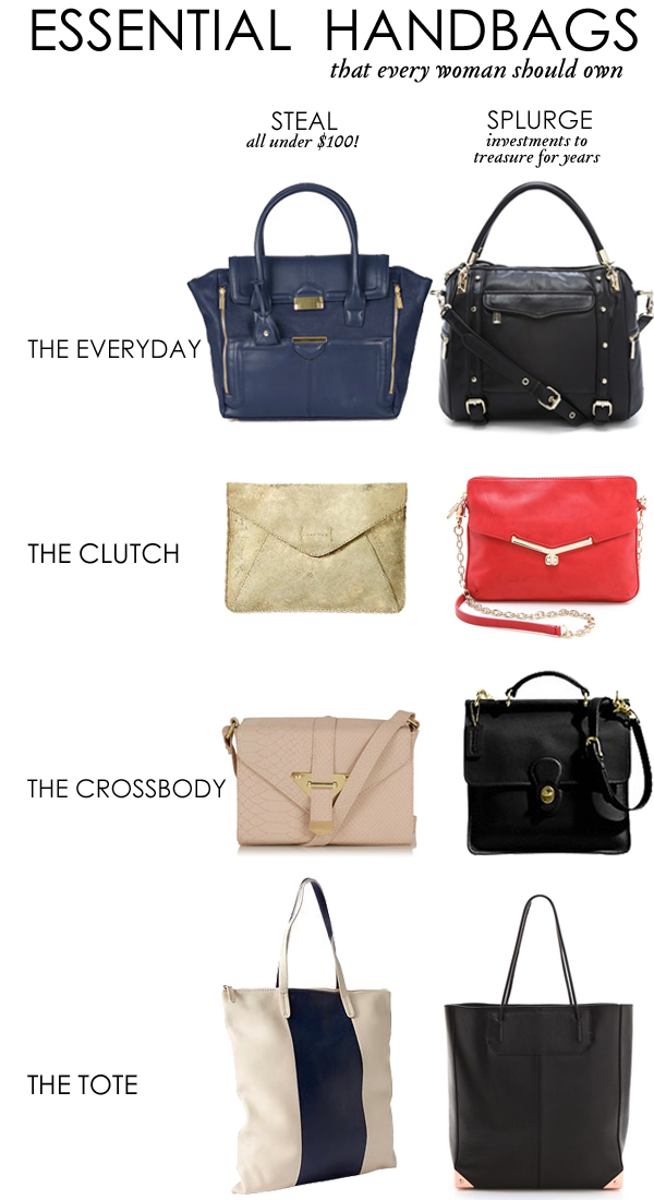 classic handbags every woman should own