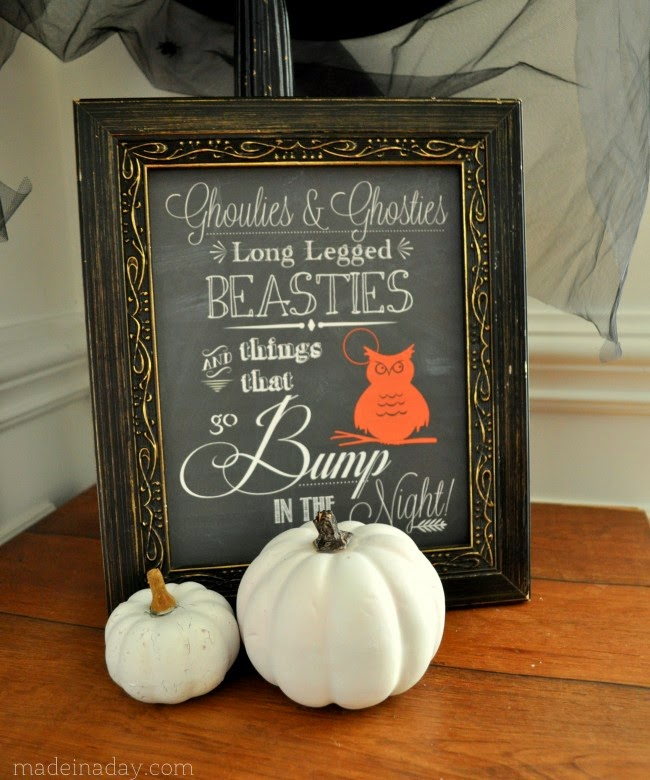 Halloween Chalk Art Printable, shared by Made in a Day