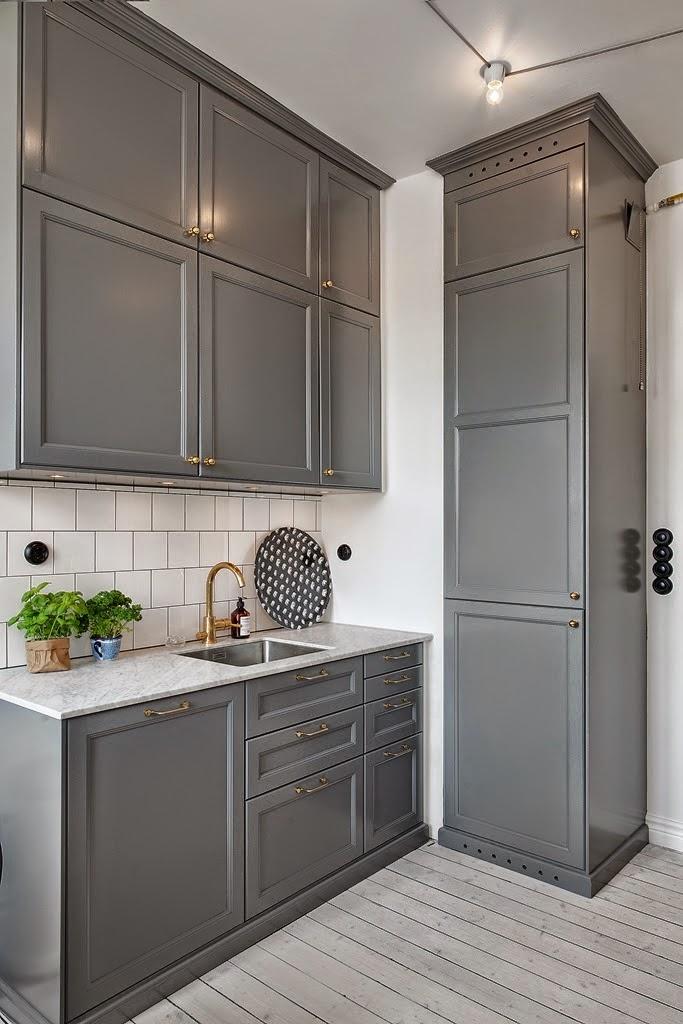 Inspiracje  szara kuchnia!  SMYKWKUCHNI -> Siwa Kuchnia Ikea