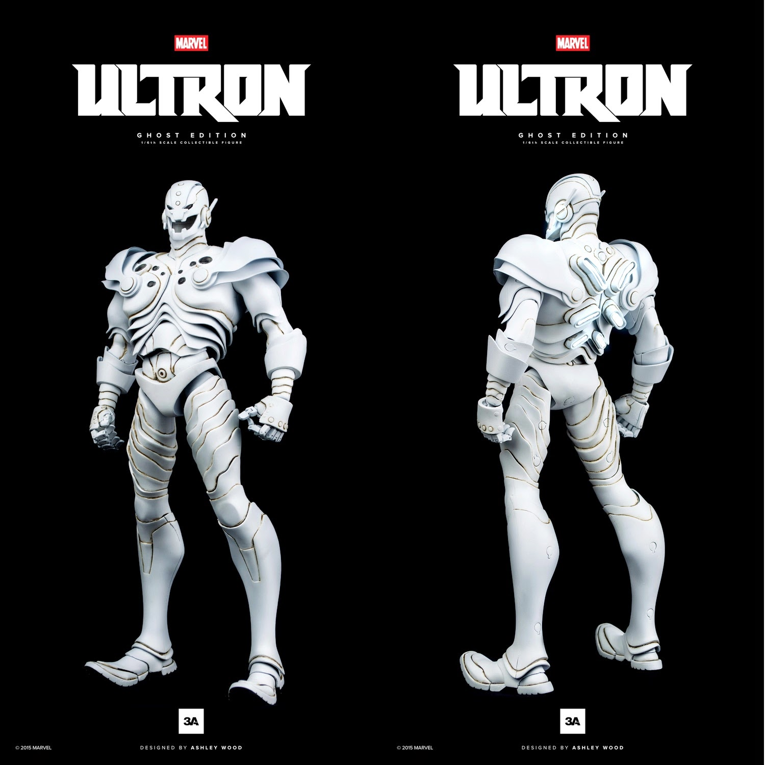 ThreeA x Marvel Ultron 16 Scale Action Figures - Ghost Edition