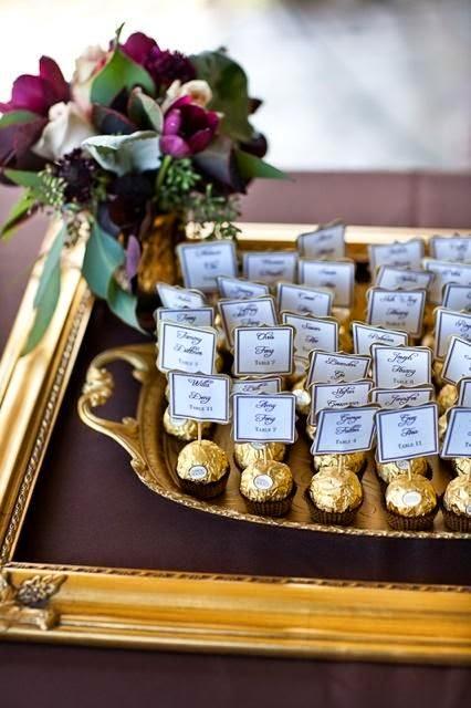Panel de invitados bombones
