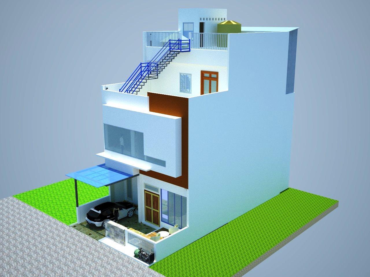 designer civil gambar hasil renovasi rumah