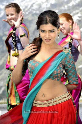 Samantha hot navel show half saree photos