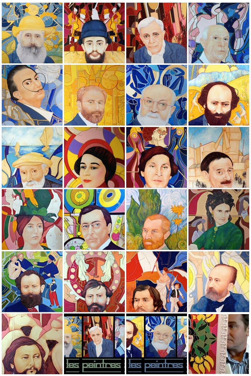 Les portraits illustrés de peintres