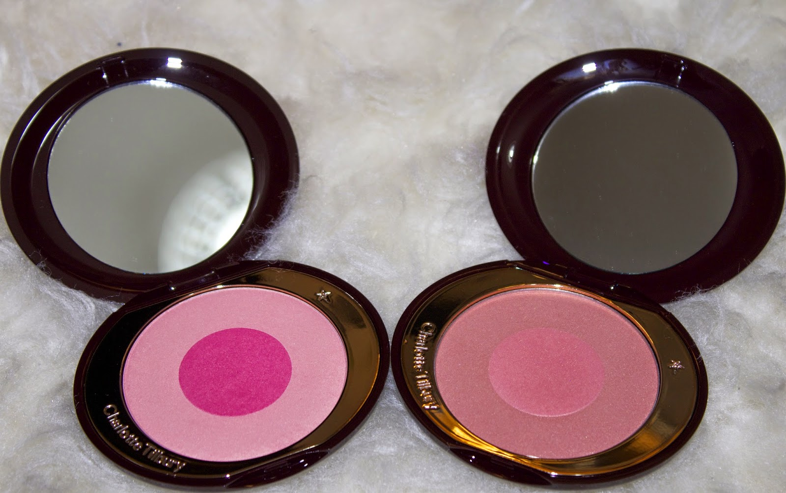 a picture of Charlotte Tilbury Swirl & Pop Blushers - Love Is The Drug & Ecstasy